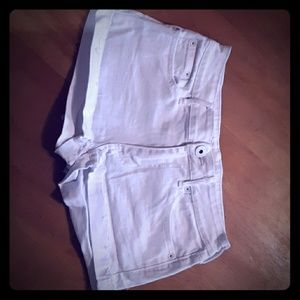 White Bullhead low rise Jean shorts